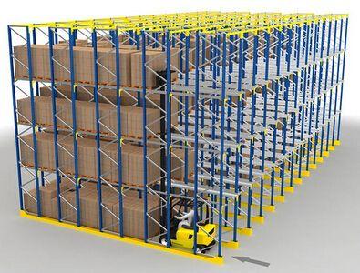 贯通式货架的安装方法
